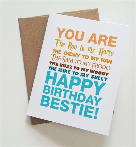 Best Birthday Cards Geeky Best Friend Birthday Card Harry Potter Star Wars