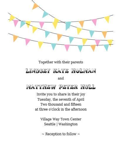 Printable Wedding Banner Templates by Bunting Banner Invitation Rsvp Free Printable