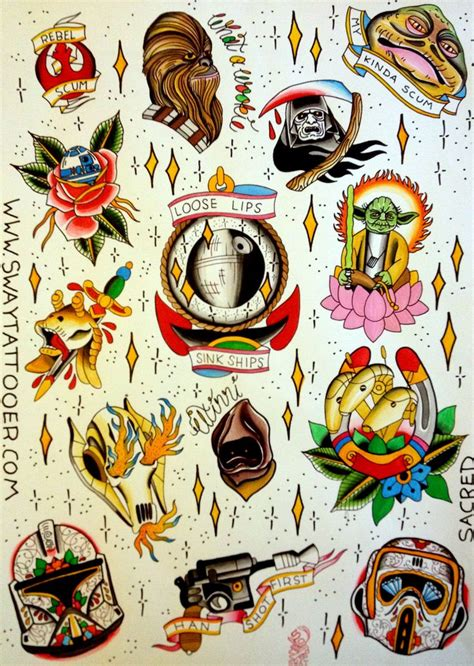 tattoo old school star wars star wars tattoo flash tattoo art pinterest sleeve