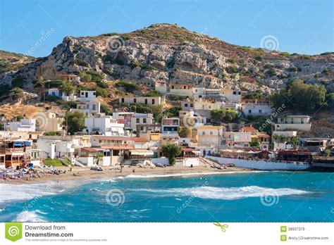Mediterranean Home Plans matala crete greece stock image image of landscape