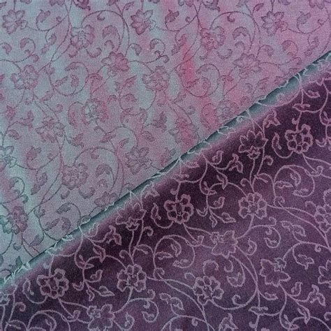 purple upholstery floral ivy reversible heavy weight jacquard royal purple
