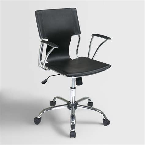 world market desk chair black ethan office chair world market