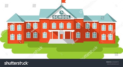 free old school house music downloads classical school building isolated on white stock vector 249282874 shutterstock