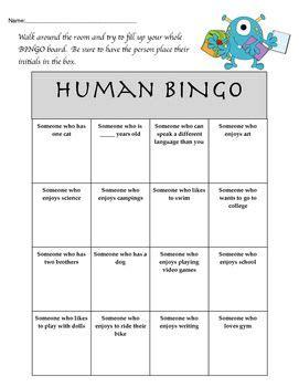 human bingo template the 25 best human bingo ideas on icebreaker