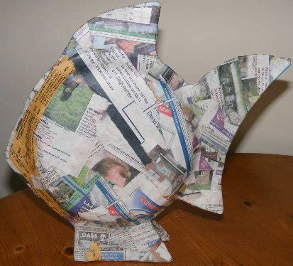 Paper Mache Craft Ideas For Adults - paper mache ideas fish ornaments