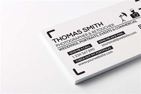 free downloadable card templates for photographers 20 free printable templates for business cards
