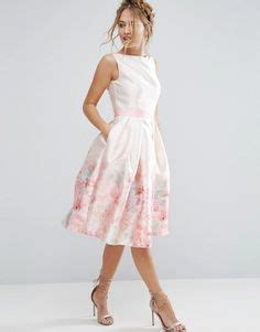 Dress Ribbon Emboss Scuba Pretty Premium 1 image 1 of asos premium embossed printed scuba midi dress
