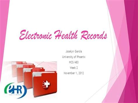 Electronic Health Records Authorstream Ehr Powerpoint Templates