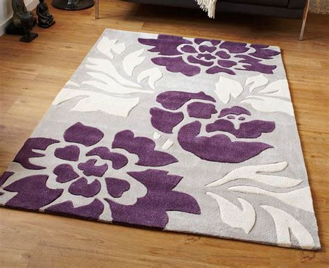 Modern Purple Rugs Modern Purple Aubergine Plum Colour Rugs In Large Small Medium Room Sizes Ebay