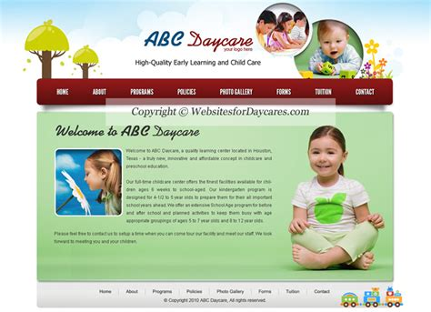 Daycare Website Templates Childcare Website Templates Cheap Day Care Website Designs Cheap Child Care Website Template
