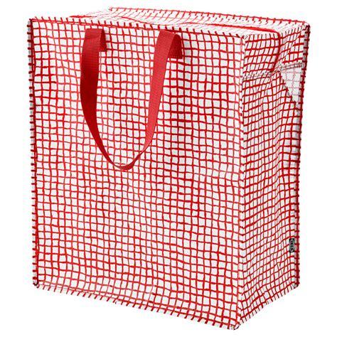 ikea bag knalla bag red white 47 l ikea