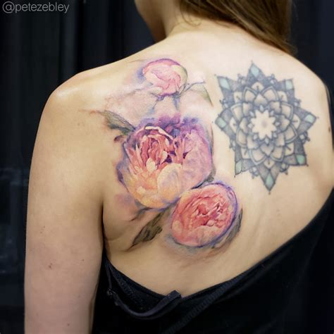 watercolor tattoo philly pete zebley central studio