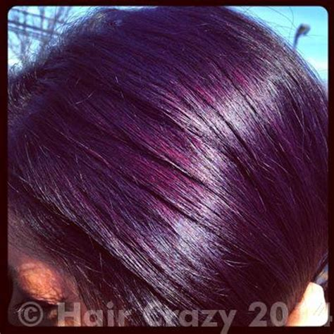 eggplant color hair how to achieve eggplant hair using pravana violet