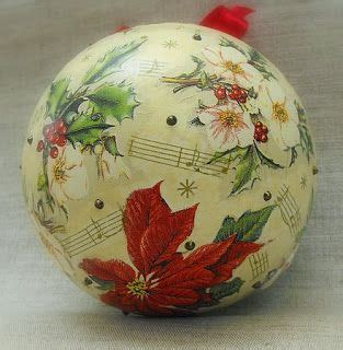 how to decoupage a plastic clear ball with a picture 17 best images about ornaments on handmade shabby chic
