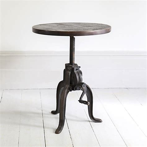 Industrial Side Table Industrial Crank Side Table By Atkin And Thyme Notonthehighstreet