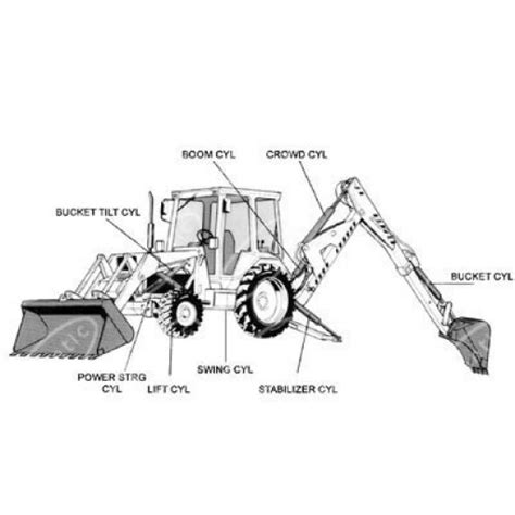 backhoe parts diagram 1701 1302 backhoe dipper cyl packing kit