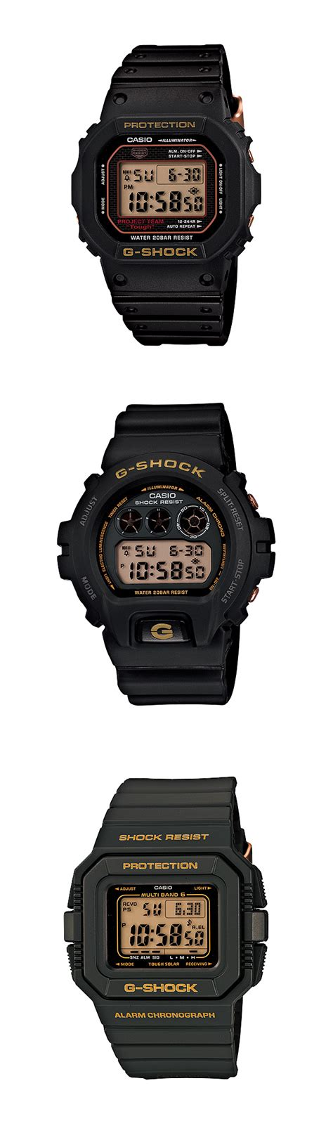 Gshock Line Black Gold technik casio g shock 30th anniversary quot black gold