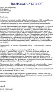 Management Resignation Letter by Manager Resignation Letter Template Sle