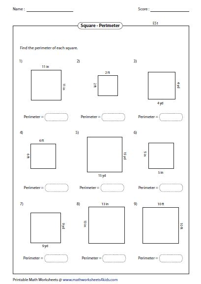 rectangle square rectangle worksheets