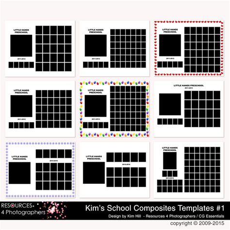 Class Picture Templates Resources 4 Photographers Group Composite Templates For School School Photo Templates Free