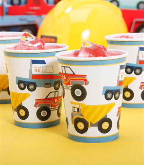 Truck Birthday Decorations by Truck Birthday Tableware Construction Truck Themed