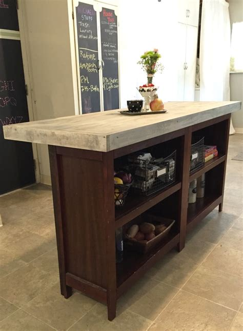 Kitchen Island Diy Diy Kitchen Island From Bookcases Jlm Designs