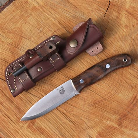 Highest Quality Kitchen Knives Tbs Boar Bushcraft Knife Firesteel Edition Turkish Walnut