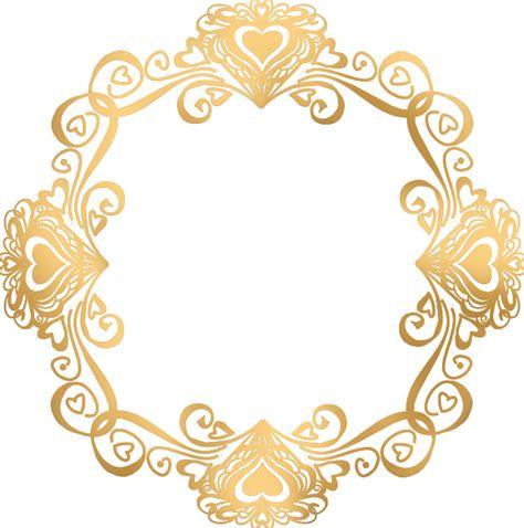 golden pattern png valentinegoldframe png 684 215 691 frames pinterest
