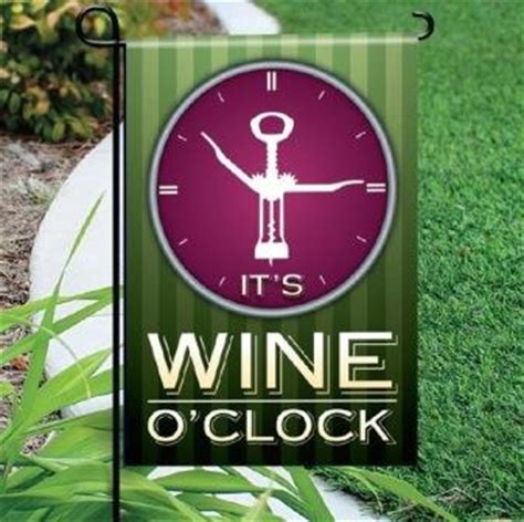 themes o clock mini garden flags with wine theme