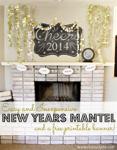 new year design ideas easy and inexpensive new years mantel