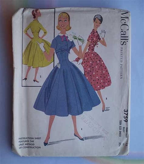 dress pattern fit and flare vintage 50s fit and flare dress pattern 32 uncut