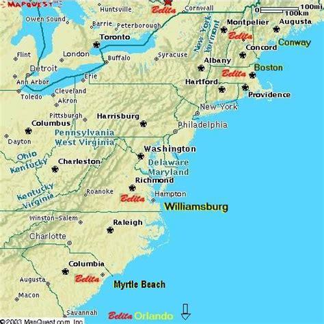 road map us eastern seaboard map of eastern seaboard united states