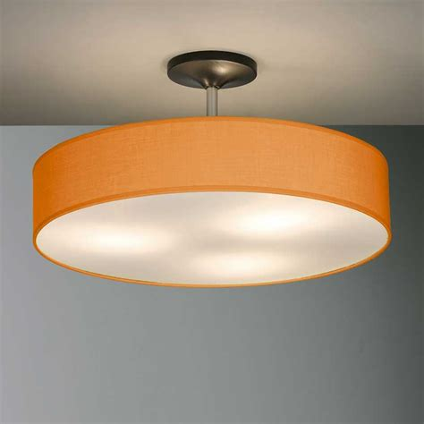 Zen Ceiling Light Disco Zen Semi Flush Ceiling Pendant Orange Andy Thornton
