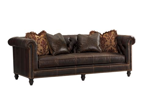 Tommy Bahama Upholstery Manchester Leather Sofa