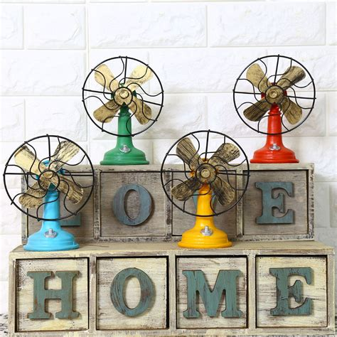 shabby chic fan model vintage home decor resin crafts