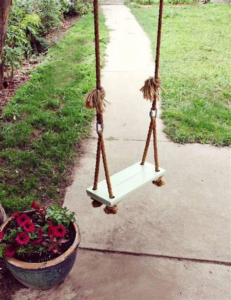 homemade swing seat make your own tree swing a beautiful mess