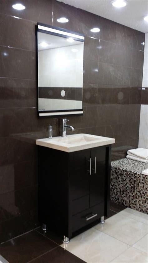 mueble  bano chocolate mdf  lavabo de marmol teresa  en mercado libre