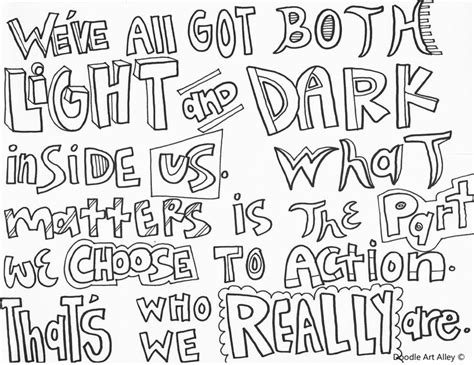 harry potter quote coloring page jk rowling via harry potter coloring pages pinterest