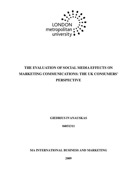 thesis topics social media marketing social media in the uk ma dissertation