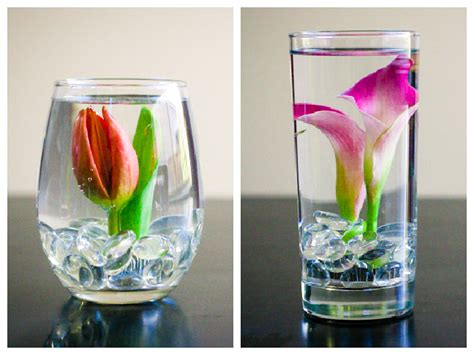 Flowers In Vase With Water by Diy Submerged Flower Arrangements