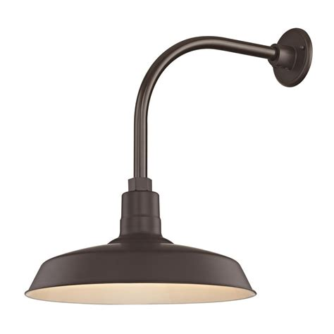 Outdoor Gooseneck Lighting Bronze Outdoor Barn Wall Light With Gooseneck Arm And 16 Quot Shade Bl Arml Bz Bl Sh16 Bz