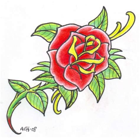 old red rose tattoo design tattoobite com