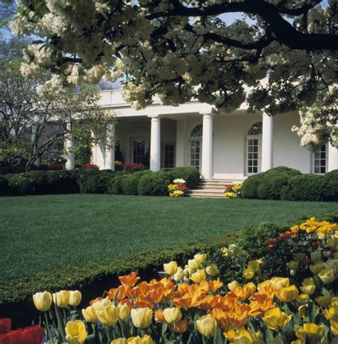 west wing  rose garden white house historical
