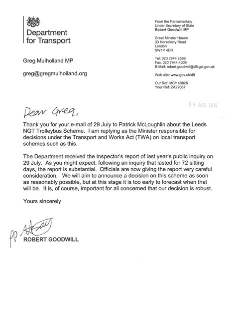 Response To Goodwill Letter Minister In Trolleybus Controversy Stop The Trolleybus