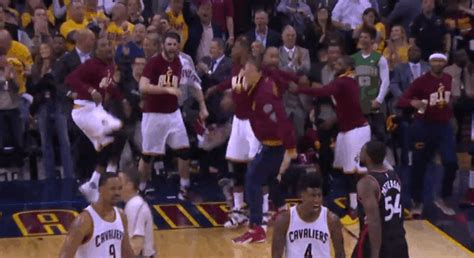 cavs bench cory joseph airballs 3 pointer after cavs bench players