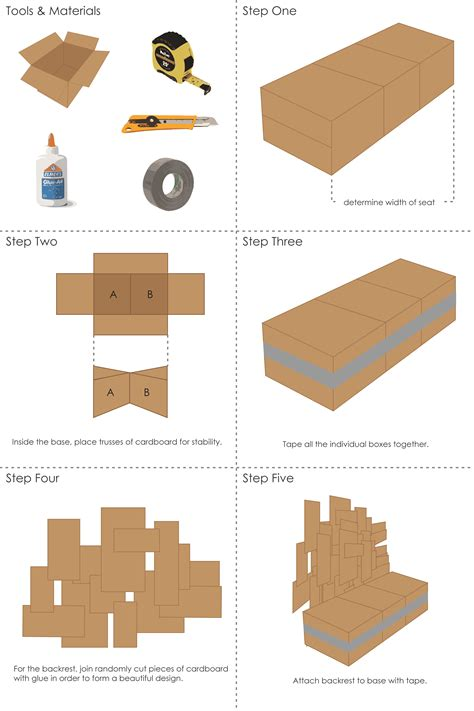diy upholstery instructions cardboard chair instructions creativity design cognition