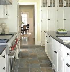 white kitchen cabinets with tile floor slate floor with white cabinets kitchen pinterest