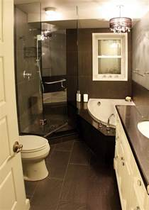 Black And White Small Bathroom Ideas by Black And White Small Shower Themes With Corner Tub And