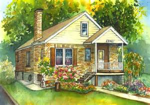 house painting watercolor house painting of your home custom