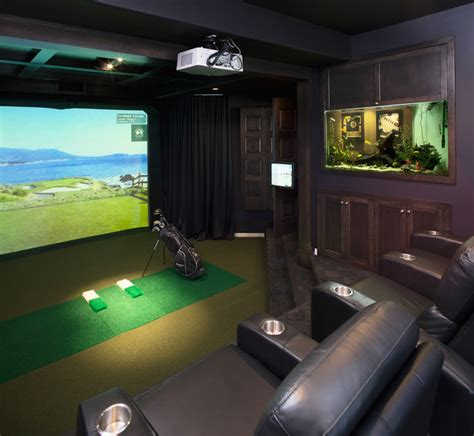Room Decor Simulator Golf Simulators Traditional Home Theater Calgary